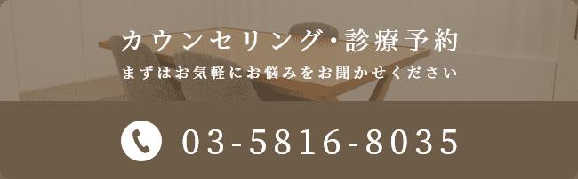 カウンセリング・診療予約03-5816-8035